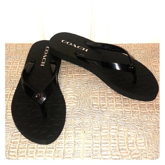 Coach Shoes - NWOT COACH Flip Flops / Sandals